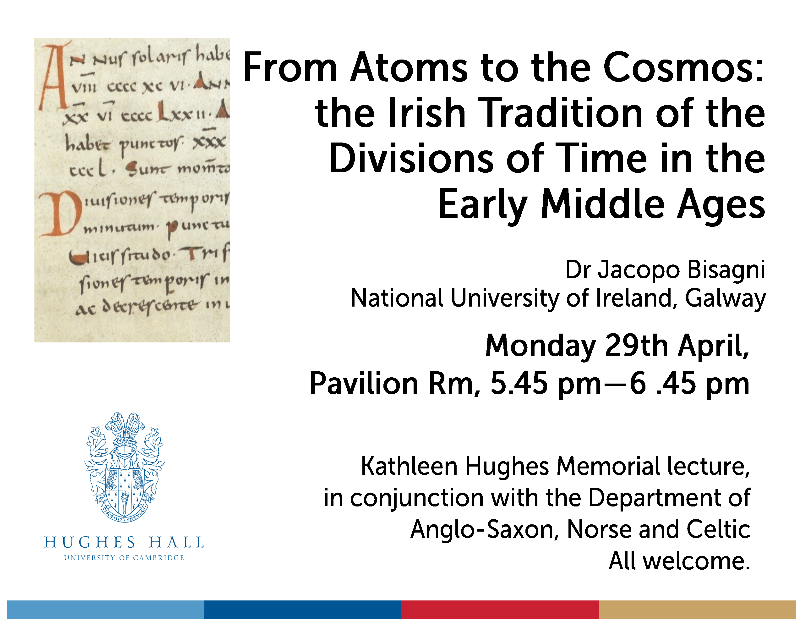 29 April 2019, Kathleen Hughes Memorial Lecture: Dr Jacopo Bisagni (NUI, Galway)